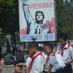 Children in Pyongyang.