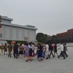 Presenting gifts to leaders in Pyongyang.