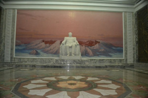 Inside Kumsusan palace, in North Korea.