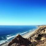 The beautiful San Diego shoreline at Black's Beach.
