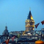 Galata Tower in the evening