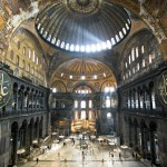 Inner hall of the Hagia Sophia