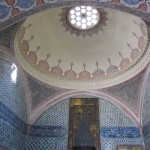 Intricately tiled roof in Topkapi Palace