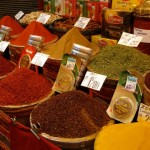 Spices on display at the Egypt Bazaar (adjacent to the Grand Bazaar)