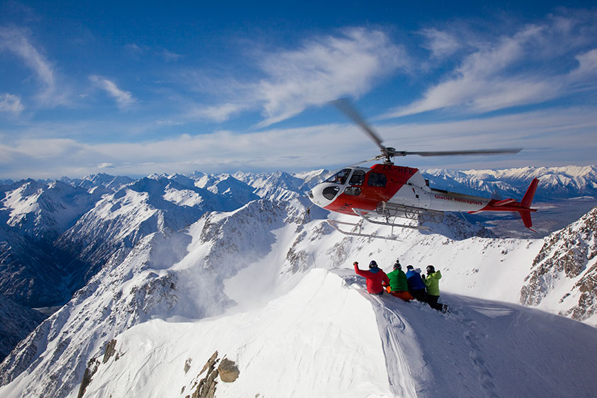 Try your hand at heli-skiing in Alaska