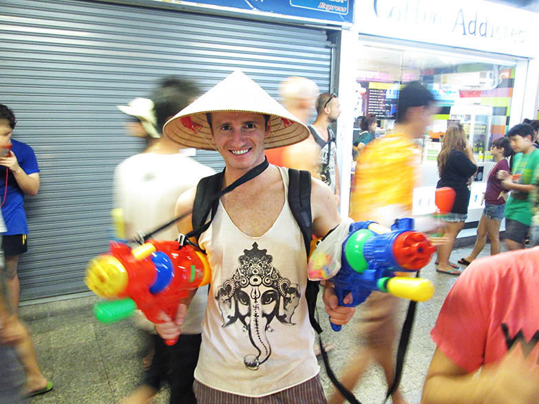 Getting ready to celebrate Songkran.