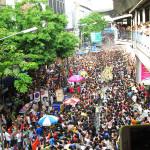 Madness ensues in Bangkok, Thailand during the Songkran festival.