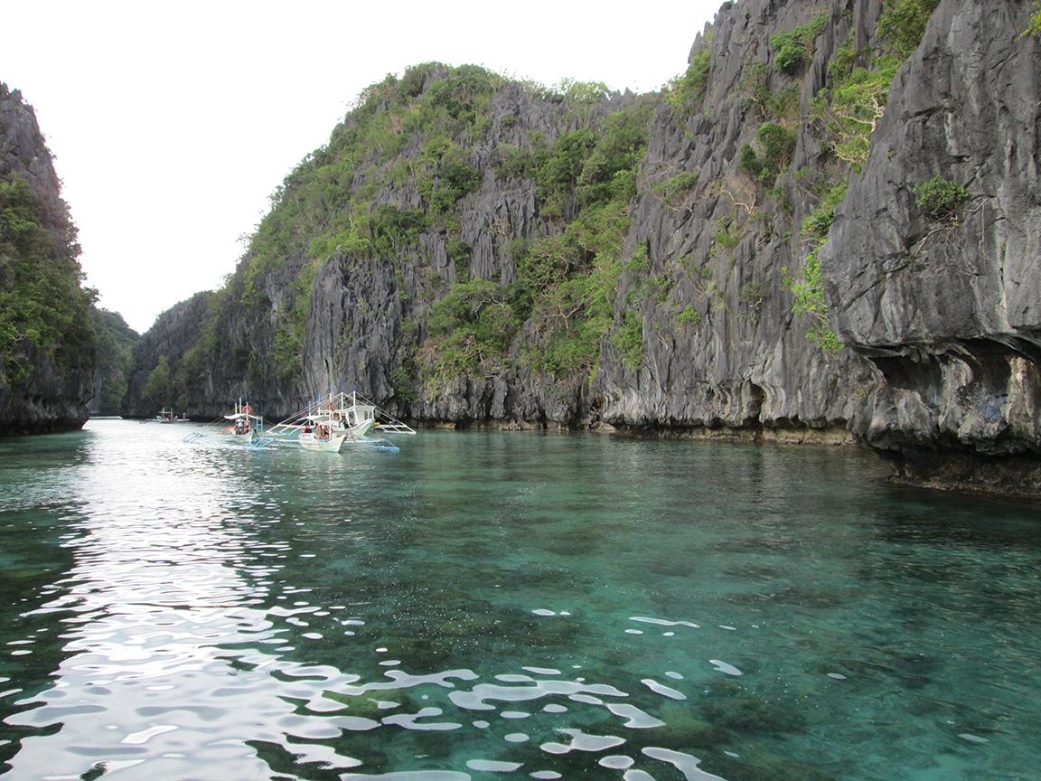 Entranceway to the big lagoon, El Nido.