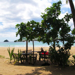 Cabana at Nacpan Beach, El Nido, Philippines