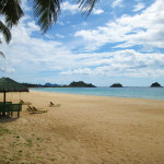 Deserted beach outside of El Nido, Palawan