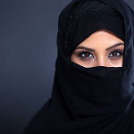 Saudi Arabian woman in abaya.