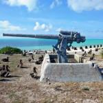 Midway Island eastern gun.