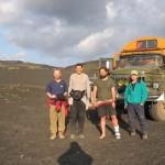 Exploring the Kamchatka peninsula.