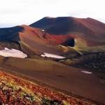The sparse landscape of the Kamchatka peninsula.