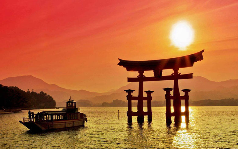Sunset in Japan.