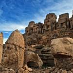 Mysterious stone sculptures of Nemrut Mountain, Turkey.