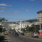 Magadan, a dreary Siberian town.