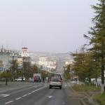 Lenin street in Magadan.