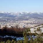View of Magadan from the mountain.