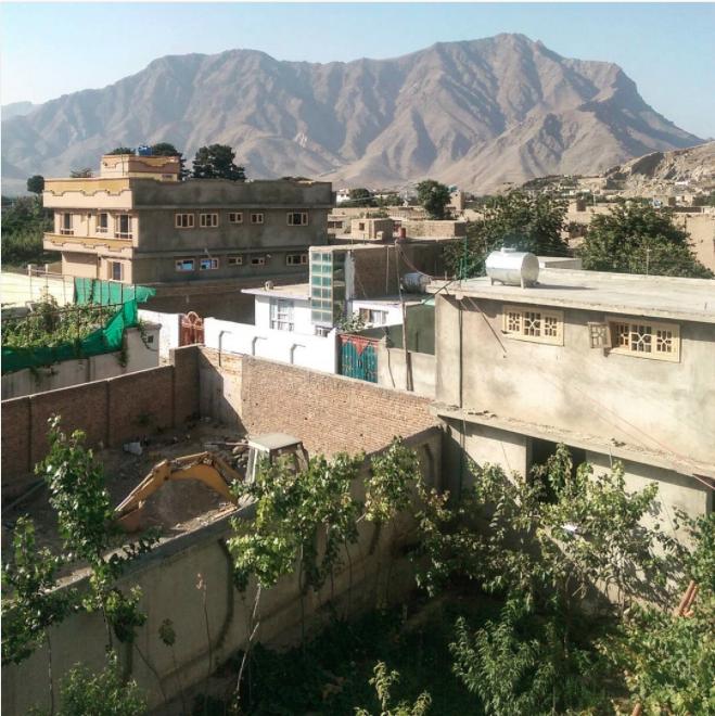 Downtown Kabul, Afghanistan.