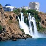 Waterfalls in Antalya, Turkey.