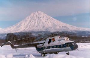 Traveling Kamchatka via helicopter.