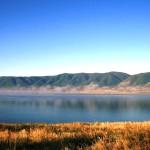 Crystal clear Tuvan lake.