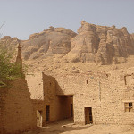 Buildings in Madain Saleh, Saudi Arabia.