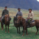 Tuvan man and his sons.