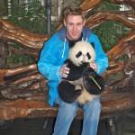 Johnny Ward at Chengdu Panda Sanctuary, China