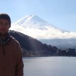 Johnny Ward at Mount Fuji, Japan