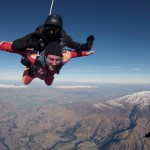 Johnny Ward skydiving in New Zealand.