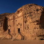 Madain Saleh, a pre-Islamic historical site in Saudi Arabia.
