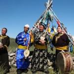 Group of Tuvans at Khogzhumchu