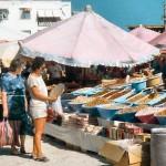 Colorful bazaar of Bodrum, Turkey.