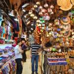 Exotic shops in the Bodrum Grand Bazaar.