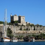View of St Peter's Castle in Bodrum