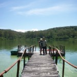 Jetty in crater lake, Naivasha