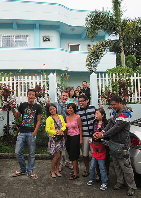 Having fun with new friends in Tagaytay, Philippines.