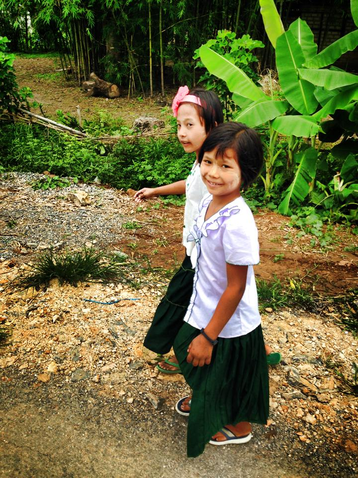 Friendly Burmese children in Myanmar.