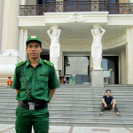 Military officer outside the Opera House, Saigon.