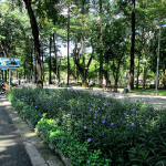 Park area in Pham Ngu Lao.