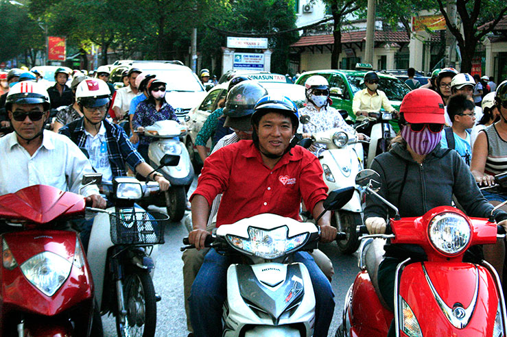 Typical street scene in Saigon.