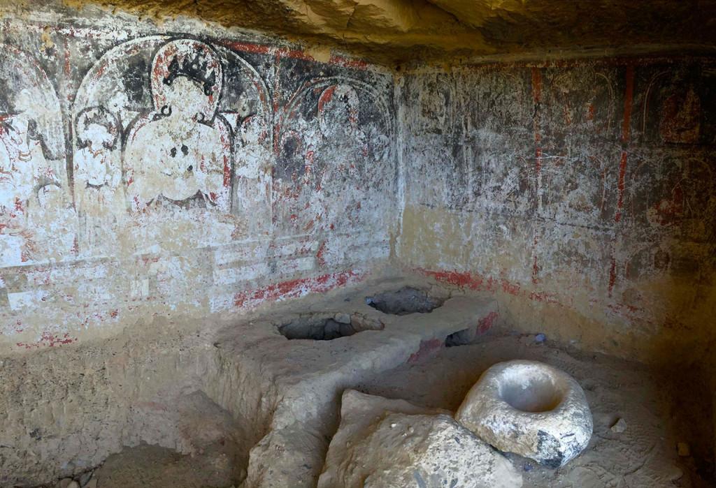 Tibetan cave paintings.