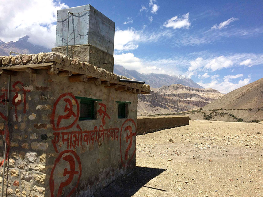 Communist Maoist rebel stronghold in Mustang, Tibet.
