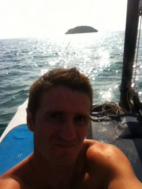 Danny Flood sailing in the South China Sea.