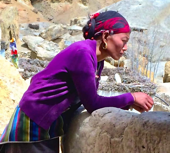Woman of Upper Mustang, Tibet.