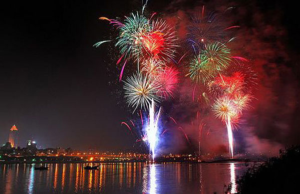 Fireworks during Tet, HCMC.