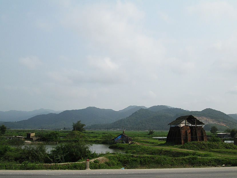 On the road in Central Vietnam.