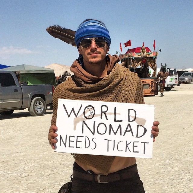 Justin Alexander at Burning Man